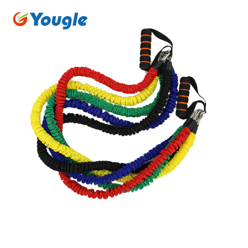 YOUGLE Yoga Pull Rope Elastic Bands For Fitness Rope Resistance Bands Exercise Equipment Workout Gym Training Pilates Rubber