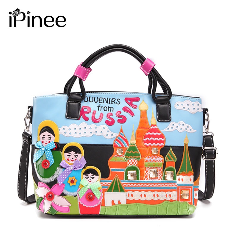 iPinee New Arriver Braccialini Style Fashion Ladies Shoulder Bags Designer Women Leather Handbags Beach Crossbody Bags