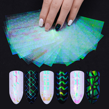 24 12 6 Sheets AB Color Nail Vinyls Christmas Unicorn Nail Art Hollow 3D Adhesive Sticker