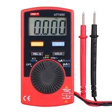 UNI-T UT120C Мини Карманный Цифровой Мультиметр Портативный Вольтметр Мультиметр Ом Универсальный Измеритель Амперметр Частотомер