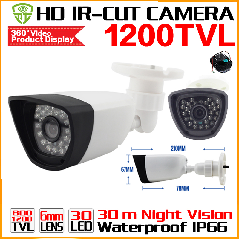 Free shipping 1/4Cmos 1200TVL Hd Mini Cctv Camera Outdoor Waterproof 24Led Night Vision Small Video monitoring security vidicon hot selling 900tvl 1 4 cmos cctv camera night vision 24pcs infrared led light color image security camera with free shipping