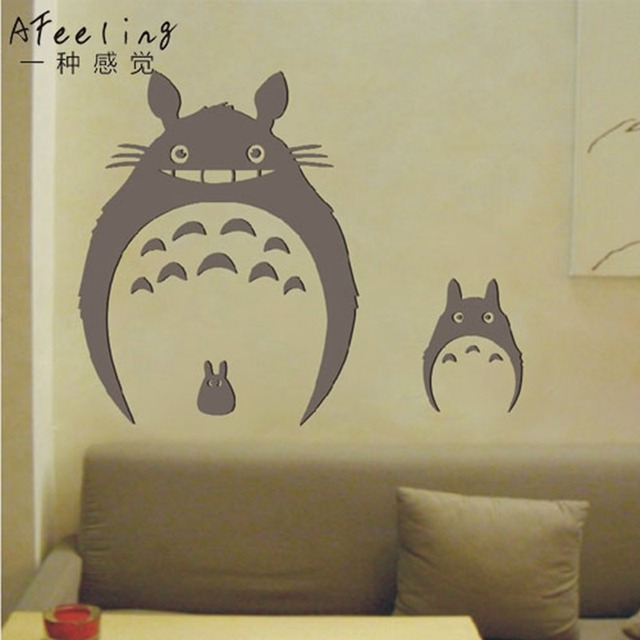 Totoro Wall Sticker Japanese Cartoon Poster Decal Vinyl Decal Sticker Home  Decoration Totoro Sticker