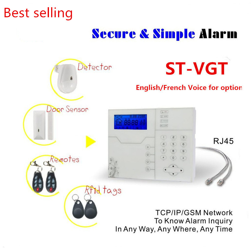 Internet TCP IP GSM Alarm System with 8 wired zone and 32 Wireless Zone Burglar Smart Alarm System with PC and App Control most advanced wireless network tcp ip alarm system sms gsm alarm smart home alarm system with webie and app control