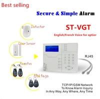 ST VGT GSM сигнализация интернет TCP IP умный дом охранной сигнализации с 8 проводной зоны и 32 беспроводная зона