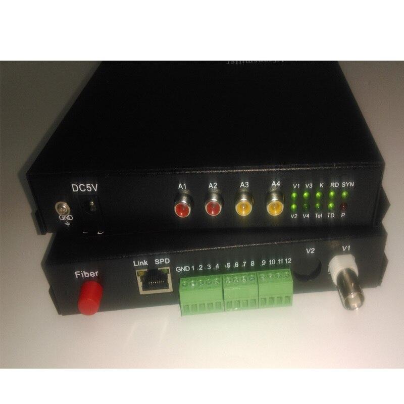 Многофункциональный 1CH видео/аудио/RS422/232 волоконно оптический преобразователь для системы безопасности CCTV
