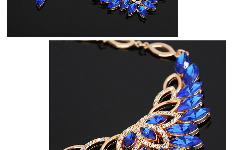 Fashion Jewelry Sets African Costume Wedding Jewellery Sets For Women Vintage Nigerian Beads Necklace Jewelry Set (2)