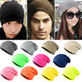 2016 Fashion Style 13 Color Unisex Women Men Knitted Knit Winter Warm  Crochet Slouch Hat Cap Cotton Blends Beanies A1