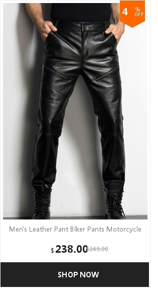 Men's Leather Pant Biker Pants Motorcycle Punk Rock Pants Tight Gothic Leather Pants  Slick Smooth Shiny Trousers Sexiest TJ01 11