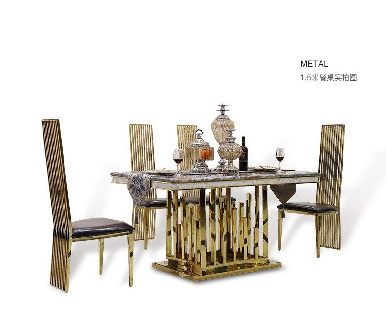 Minimalist Modern Designer Unique New Stainless Steel Golden Dining