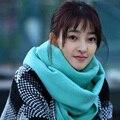 1 шт. женщины и мужчины 100% кашемир шарф осень зима Star же стиле шали и шарфы два использования конфеты цвет 65 * 200 см