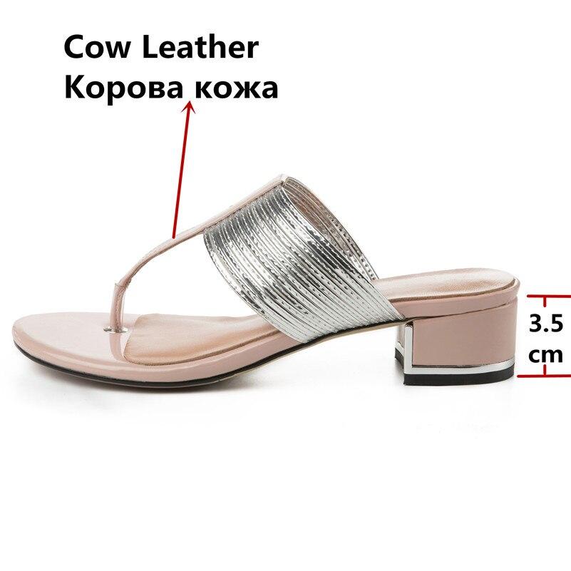 2019 брендовая качественная роскошная женская обувь из натуральной кожи на плоской платформе женские повседневные вечерние летние сандалии ... - 4