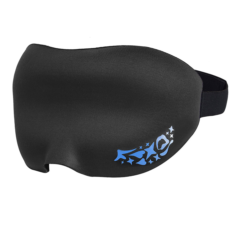 PRETTYSEE Travel Eye Sleep Mask For Sleep Relax Black Sleep Mask, Suitable for travling or sleeping, very comfortable.