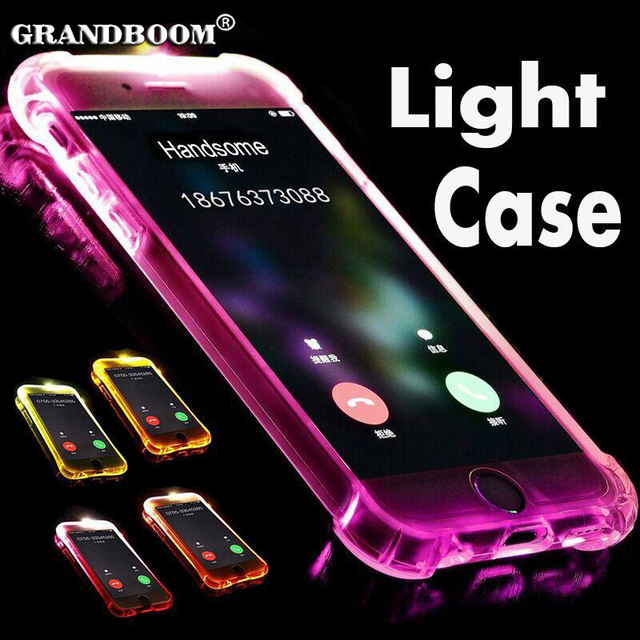 quality design be10f b5015 US $13.0 |10pcs LED Call Light Up Flash Transparent Case For iPhone XS Max  XR X 8 7 6 6S Plus 5 Samsung S8 Plus S7 Edge Soft TPU Cover-in Fitted Cases  ...