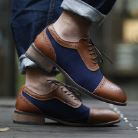 Men Dress Shoes Simple Style Quality Men Oxford Shoes Lace up Brand Men Formal Shoes Men Leather Wedding Shoes BRM 104 4