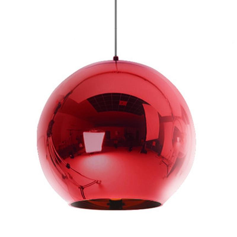 Wonderland Modern Color Copper Shade Mirror Chandelier Light E27 Bulb LED Pendant Lamp Modern Christmas Glass Ball Lighting modern shade glass artistic pendant golden and black e14 bulb modern lighting sphere beanstalk molecular mall shop decoration