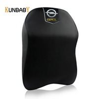 KUNBABY 1PCS Leather Car Neck Pillow Memory Foam Headrest Cover Support Case For Opel Logo Zafira