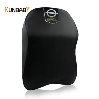 KUNBABY 1PCS Leather Car Neck Pillow Memory Foam Headrest Cover Support case for Opel Logo Zafira Astra Insignia Accessories