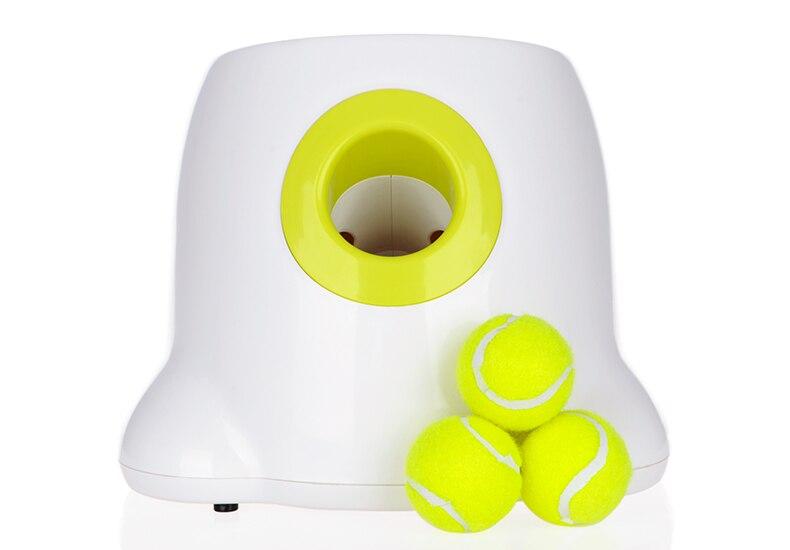 Juguetes Para Mascotas perro tenis lanzador automático máquina de lanzar bola mascota dispositivo tiro 3/6/9 M sección de emisión con 3 bolas Juguetes