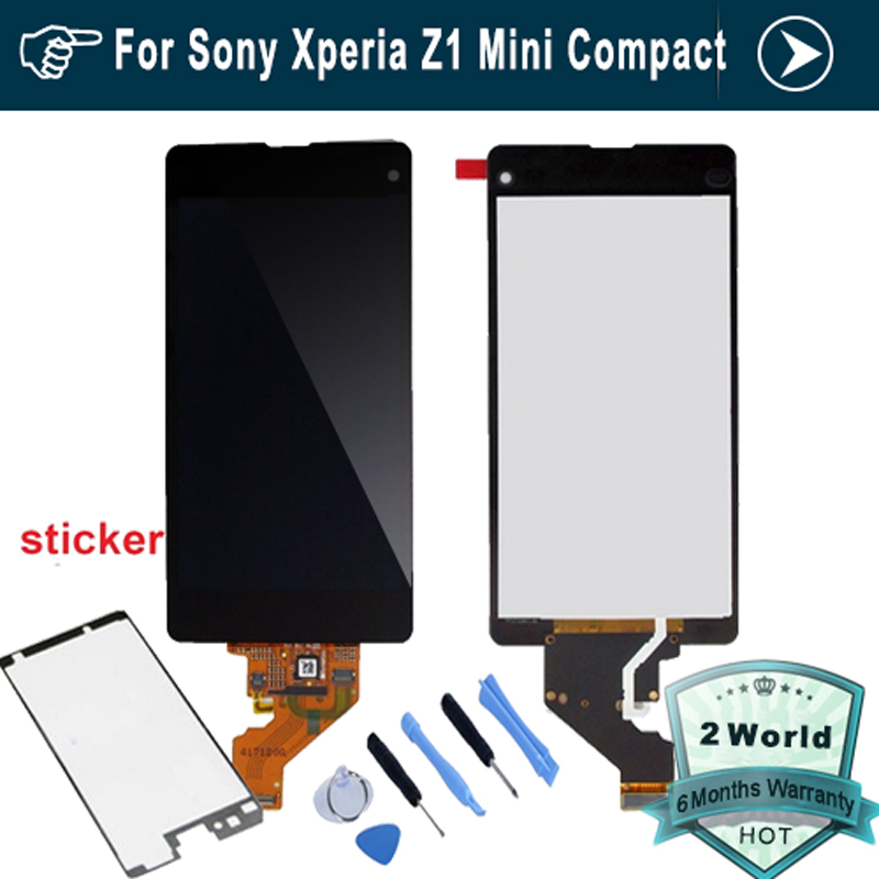 For Sony for Xperia Z1 compact M51w z1 mini D5503 LCD Display with font b Touch