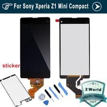 Para sony for xperia z1 compact m51w z1 mini d5503 pantalla lcd con pantalla táctil digitalizador asamblea + adhesivo + herramientas