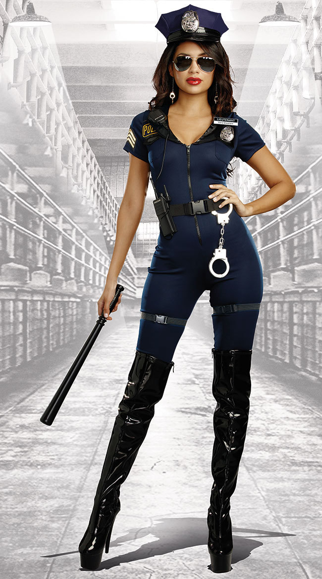 New Stylish Female Cop Police Officer Uniform Adult -7301