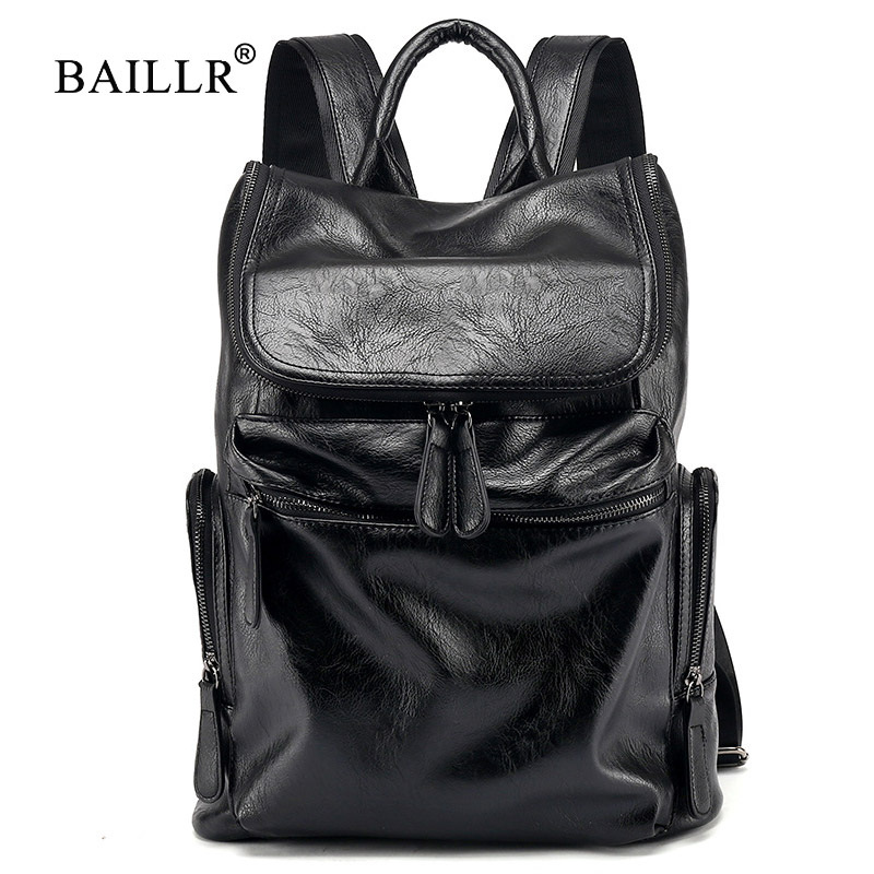2018 New Casual Large capacity Backpacks for Men Travel bags Laptop Computer backpacks pu Leather Men Business bags High quality new arrival vintage men pu leather backpacks large capacity zipper solid backpack for teenagers high quality black shoulder bags