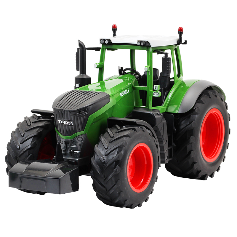 <font><b>RC</b></font> <font><b>Truck</b></font> Trailer Dump Harvest 4 <font><b>Wheel</b></font> <font><b>RC</b></font> Tractor 2.4G Remote Control Tractor Engineering Vehicles Model Toys For Children Hobby image