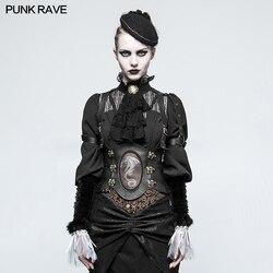 Punk Rave Steampunk Westlichen Drachen Gürtel Sexy Weste PU Leder Gothic Bühne Leistung Co0splay Kostüme