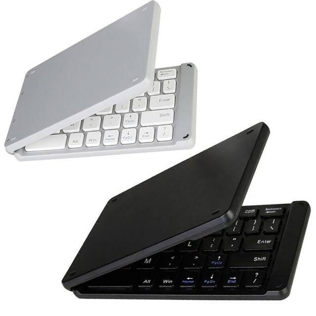 ワイヤレス折りたたみ bluetooth キーボード光と便利な Bluetooth の 3.0 折りたたみキーボード折りたたみ BT ワイヤレスキーパッド電話のラップトップ
