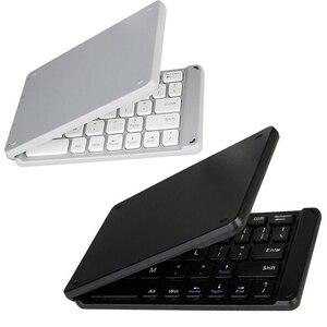 Image 1 - wireless folding Bluetooth keyboard Light and Handy Bluetooth 3.0 Folding Keyboard Foldable BT Wireless Keypad for phone laptop