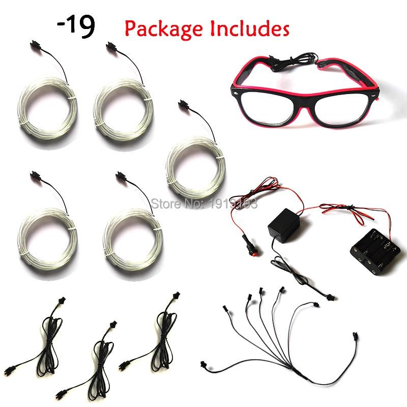 10 Boja Odaberite Nova moda DIY LED odijela EL žice svjetlo gore - Rasvjeta za odmor - Foto 2