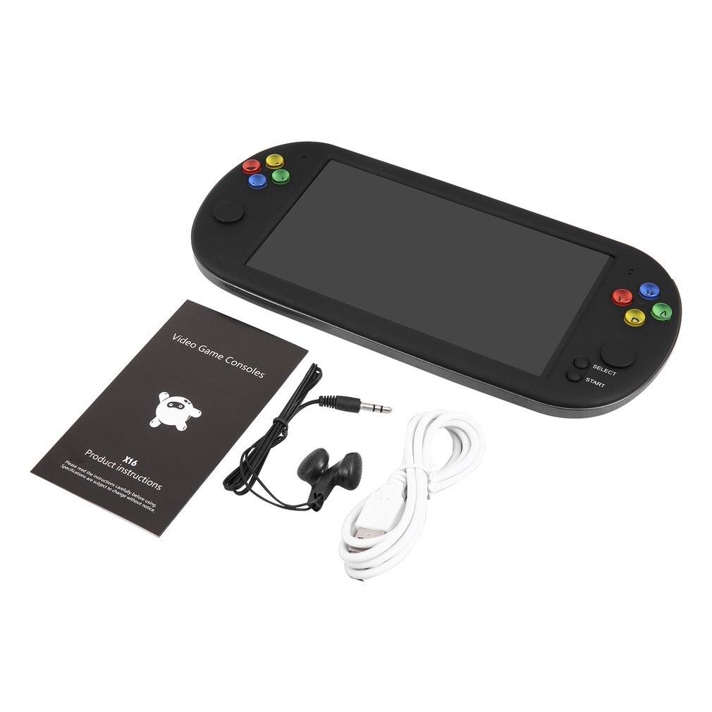 7 pouces 8G Console de jeu vidéo prise en charge TF Console de jeu de poche rétro Console TV-OUT prise en charge pour CPS/GBA/MD/FC/GB/GBC