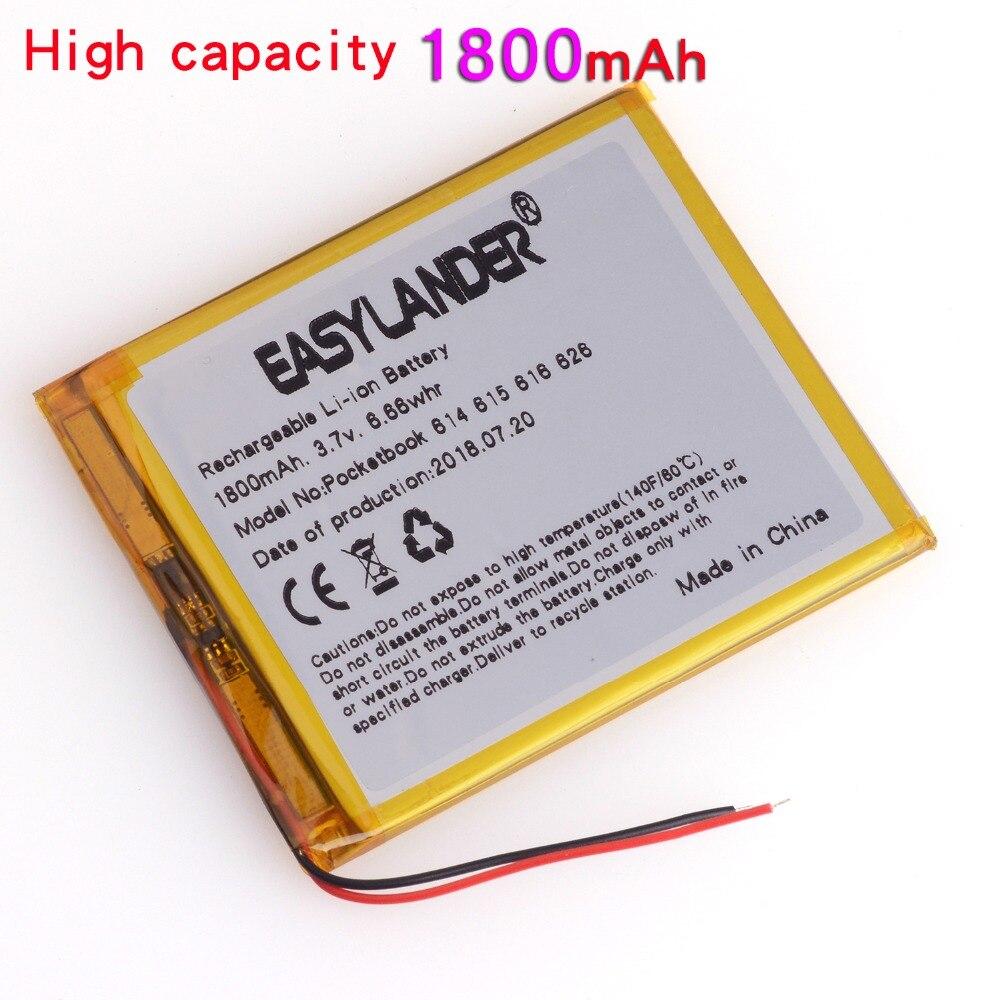 PocketBook Battery 3.7V 1800mAh Rechargeable Li Polymer Battery FOR E-BOOK PocketBook 614 615 616 624 626 Digma E628 R657 R659
