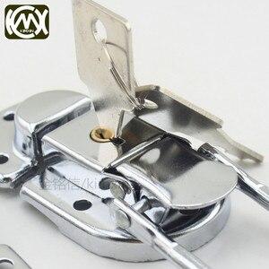 Image 5 - 10pc 34*60mm High grade Box buckle Equipmentcasees lock Flightcase with key locks Iron hasp Locking latch Wholesale KMX W 161