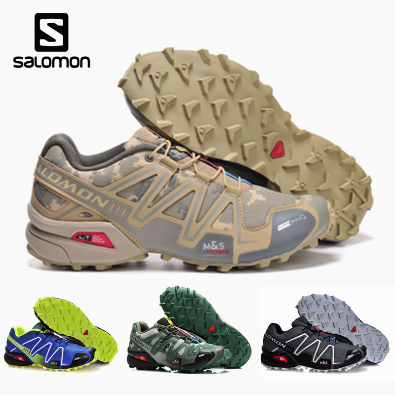 Salomon Speed Cross 3 Sport Outdoor Men Shoes Athletic Zapatillas Speedcross CS Male Hombre Solomon Fencing Running Mujer Shoes
