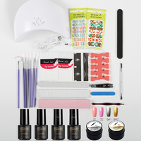 ROSALIND 7ml Nail Set For Manicure Nail Art Tools Cure Manicure Kit 36W UV Lamp Nail Gel Polish Soak Off Top White Varnish