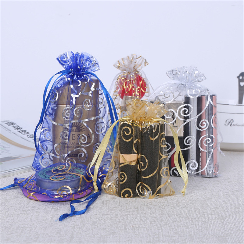 Event & Party Cheap Sale 1000pcs/lot Silver Rattan Organza Bags Wedding Home Christmas Decoration Favors Gifts Craft Jewelry Packaging Organza Pouches Latest Fashion