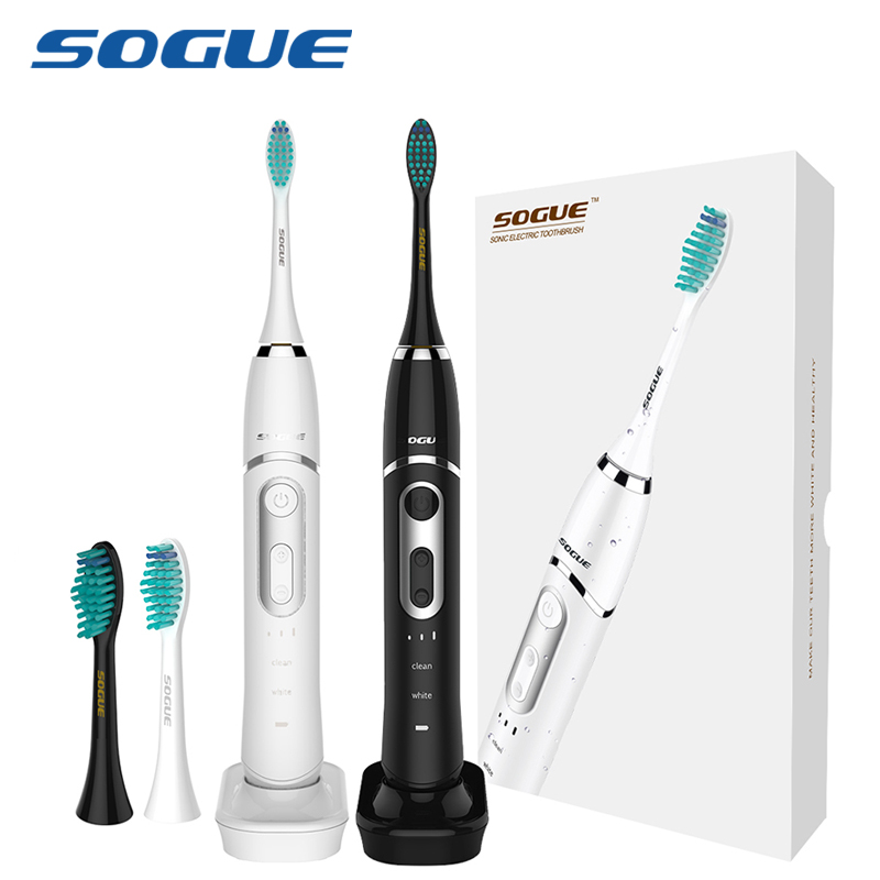 SOGUE Sonic Electric Toothbrush Maglev Motor 6 Modes USB charge Waterproof 2 FDA brushheads S61 Escova