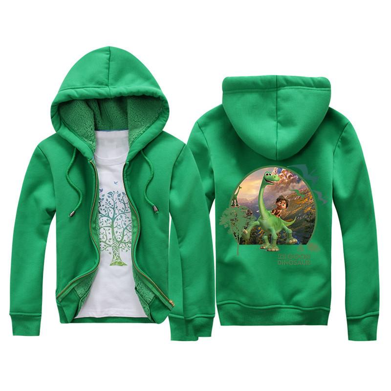 Jiuhehall 3-7 yrs Children Jackets 2016 New Winter Dinosaur Berber Fleece Coats Kids Thicken Warm Hooded Zipper Outwear JCM017 (5)