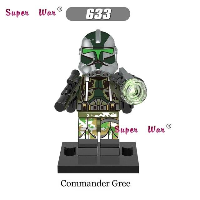 50pcs Starwars Commander Gree 41st Elite Corps Clone Trooper Models