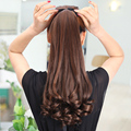 Long Lady Girl  Wavy  Ponytail Wigs Pony Hair Hairpiece Extension synthetic clips in hair ponytails hairpieces