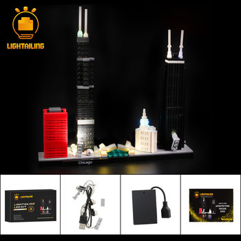 LIGHTAILING LED Light Kit For Architecture Chicago Light Set Compatible With 21033 (NOT Include The Model) цена 2017