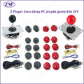 Free shipping 2Player Zero Delay DIY PC arcade game kits for Mame Fighting Games Joystick+sanwa style push button+wire USB