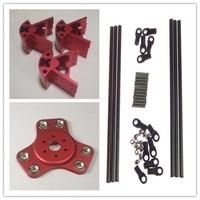 Red Color Delta Rostock Kossel k800 aluminum magnetic effector carriage+Corner kit+ 300MM Kossel Mini Rod Kit