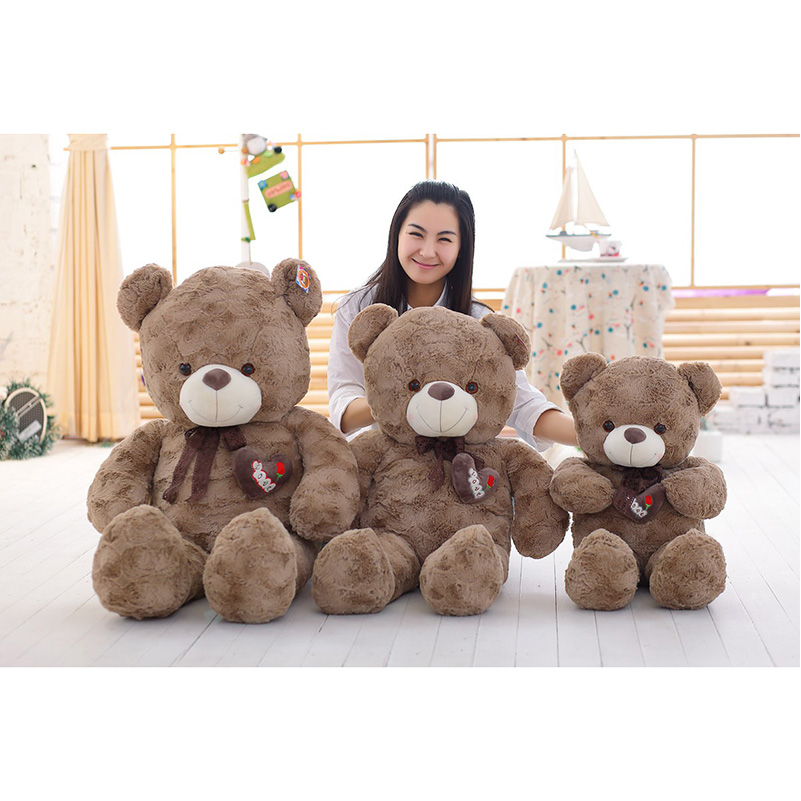 2017New80cm Curly Bears Love Creative Sitting Teddy Bear Soft Plush Stuffed Toys Teddy Bears Soft Dolls For Valentine's Day Gift puseky 2017 infant romper baby boys girls jumpsuit newborn bebe clothing hooded toddler baby clothes cute panda romper costumes