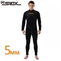 SLINX Открой 5 мм неопрена Для мужчин Подкладка из флиса теплые гидрокостюм для плавания подводное плавание Триатлон Подводная охота и подвод