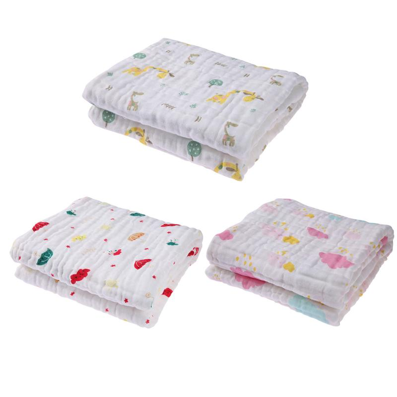 New 6 Layers Cotton Baby Blankets Newborn Wrap Gauze Infant Bath Towel 100%Cotton Infant Soft Baby Bath Towel