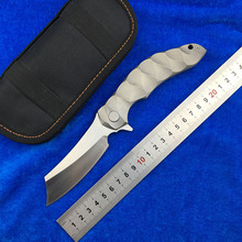 magic chav D2 blade TC4 titanium Flipper Tactical ball bearing folding knife camping hunting outdoor survival knives EDC tools цены