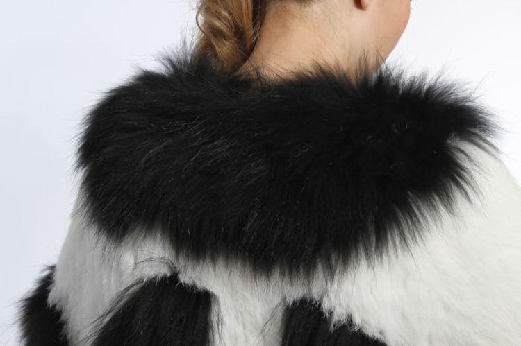 Avec Réel Raton Veste Gratuite 16041 Mélange Su Tricoté Manteau Laveur De Noir 2016 Fourrure Lapin Couleur Livraison Blanc 100 Véritable qXPnxYwBR5