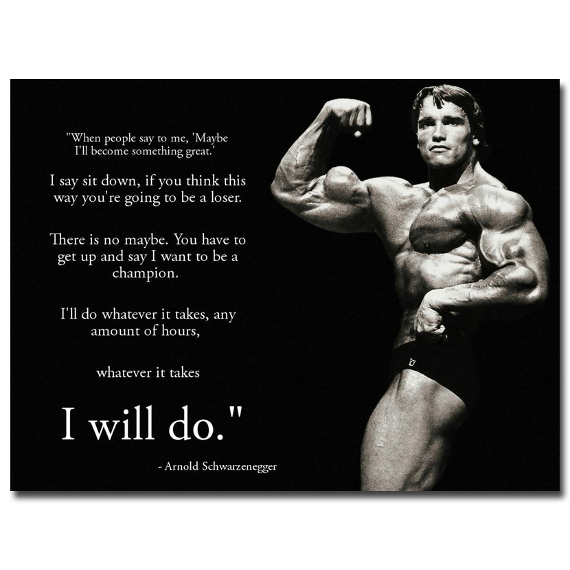 Image result for arnold schwarzenegger motivational poster